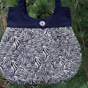 Quilted Hobo Style Cream and Black  Zebra Print Handbag
