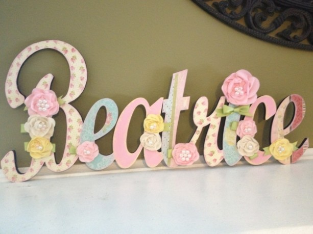 Nursery Wall Letters Name Sign
