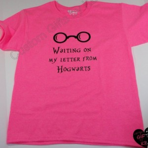 Waiting on my Letter from Hogwarts T shirt, Harry Potter t shirt, Hogwarts Letter T Shirt, Birthday Gift, Christmas Gift, Anniversary