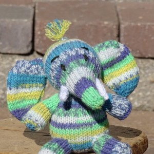 Elephant, Stuffed Animal, Baby Boy Toy, Hand Knitted Toy, Blue Toy, Knitted Elephant, Baby Shower