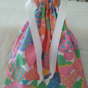 Drawstring Bag with Hearts, Valentines Day Gift Bag, Cute Gift For Her, Gift for Girlfriend on Valentines Day, Cloth Gift Bag