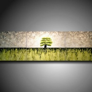 Art Original 3 piece Painting 16 inches X 60 inches --------- Textured---