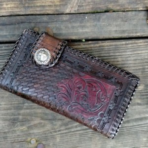 Floral Western Leather wallet