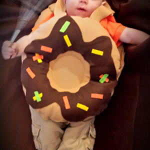 Donut costume for baby for Halloween