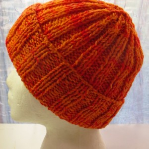 Beanie Hat Watch Cap Hand Knitted from Hand Dyed 100% Wool - WINSTON by Kat