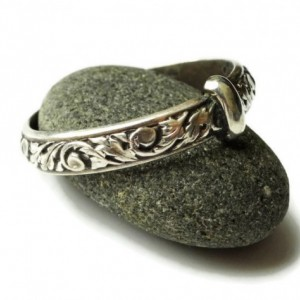 THE Original Filigree Thistle Pattern Ring - Sterling Silver - Celtic - All Sizes - Sporran Key - Highlander Fan - Blacksmith - Scotland