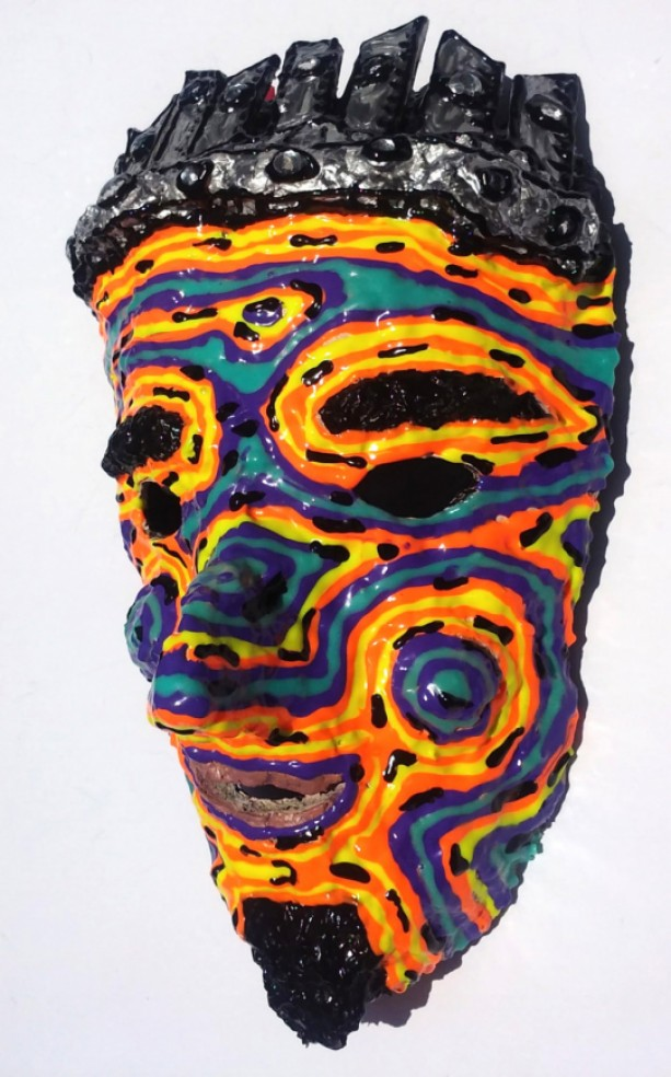 King Mask Wearable/Wall Art Handmade One of a kind by Anthony Saldivar Masquerade
