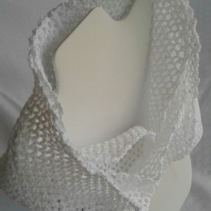 Lacey Infinity Scarf in White
