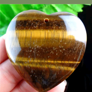 Tiger's eye heart charm reserved Reserve