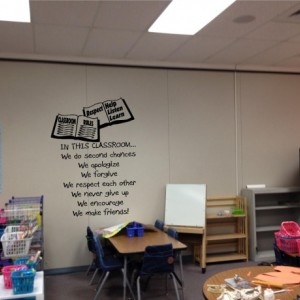 In this Classroom... Children, Children's Wall Quotes Inspirational Quote, School, Daycare, Teacher, Pre-School, Classroom