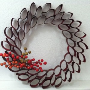 Curled Paper Roll Wreath