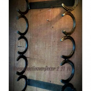 Country rustic horseshoe towel or Gun rack, rustic Gun rack, Country bathroom decor, Rustic home decor, Handmade rustic towel rack, country