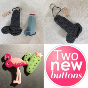 Asthma inhaler cozy / cover key chain