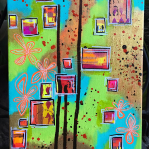 Original Mixed Media Abstract Intuitive Canvas Painting
