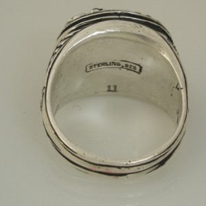 American Eagle sterling silver ring