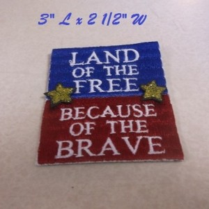 Pat's machine embroidered patch