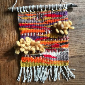 Woven Autumn Abstract Tapestry