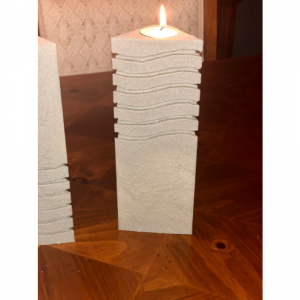 Fifth Element Stone Candle Holder