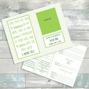 LDS Baptism Program - Green