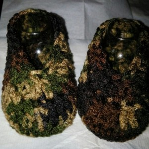 Baby Booties - Slip-on Shoes - Camo