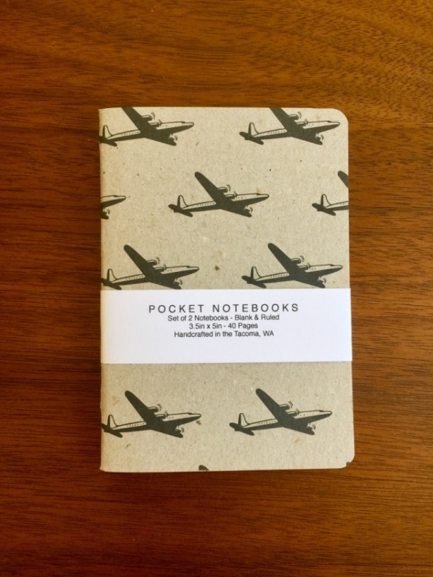 Airplane Notebooks 2 pack 3.5in x 5in Pocket Notebook handcrafted journal diary sketchbook gift set handmade kraft Premium Notebook no logos
