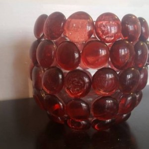 Glass Bead Candle Holder- Set of 4