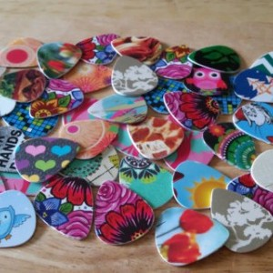 Up-Cycled Guitar Picks.