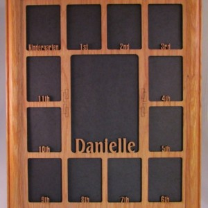 School Years with Name Graduation Collage K-12 Clockwise Picture Frame and Matte 11x14