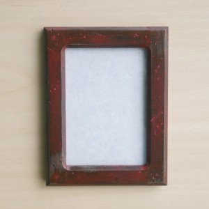 Forever 5 X 7  Distressed Red picture frame