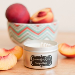 Scented Candle | Georgia Peach | Soy Wax Candle | Summer Scent | Fruity Candle | Eco Candles | Peach Candles | Home Decor | Home Fragrance
