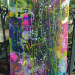Original Colorful Fluid Acrylic Abstract Painting