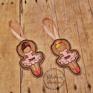 Buy 3 Get 1 Free Custom Embroidered Christmas Ballerina Ornament