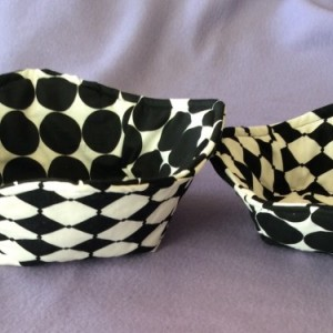 Black/White Cool Hands Micro 'hot pad' Bowls