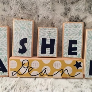 Custom Wooden Block Decor Sets