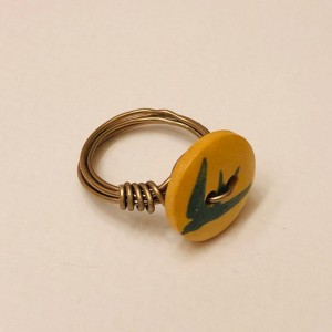 Sparrow Button Ring