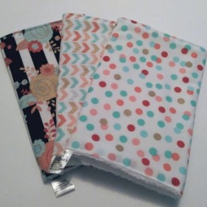 Burp Cloths Cute Floral,  Chevron & Dots, Baby Gift, Baby Shower Gift, Feeding Burp Cloths, Burp Rags, Diaper Rags, Spit Rags,  Baby Girl
