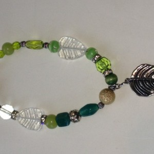 green leaf anklet