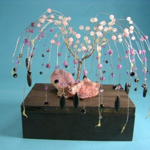 Amethyst & Rose Quartz Weeping Willow