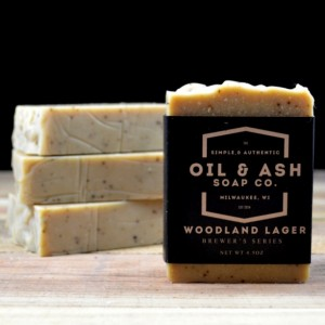2 Pack-Woodland Lager Beer Soap, All Natural Soap, Essential Oil Soap, Cold Process Soap, Exfoliant Soap, Handmade Soap, Coffee Soap