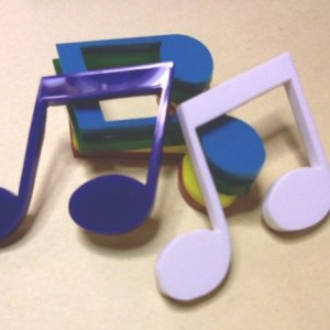 music charms, musical notes, laser cut charms