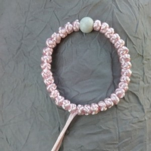 komboskini/orthodox prayer rope 33 knot- adjustable bracelet -pink