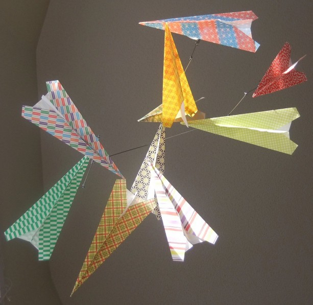 Paper Airplane Mobile Aftcra