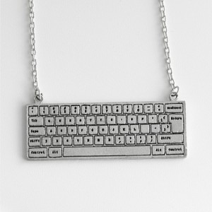 Computer Keyboard Necklace