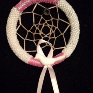 Pink and White Dream Catcher
