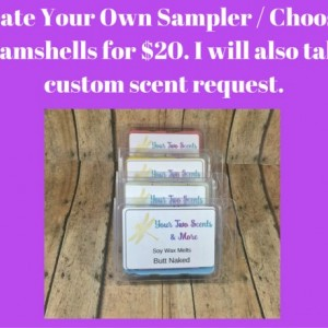 Soy Wax Melts, Sampler - Create Your Own - You Choose 6 Clamshells, Soy Wax Tart, Candle Melts, Wax Warmer, Natural Wax Melts, Scented Cubes
