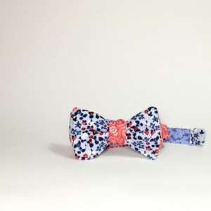 reversible bow tie self tie bow tie magnet tie blue flower bow tie red flower bow tie groomsmen tie reversible bowtie wedding accessories