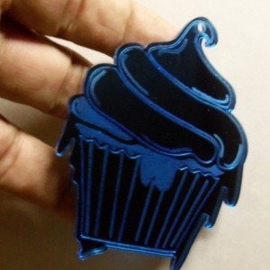 cupcake charms,dripping cupcake,laser cut charms,birthday party