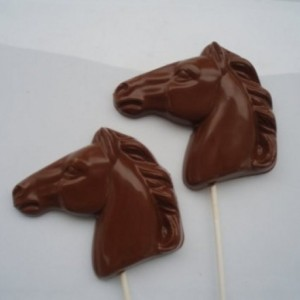 12 Large Horse Head Chocolate pops are made fresh to order