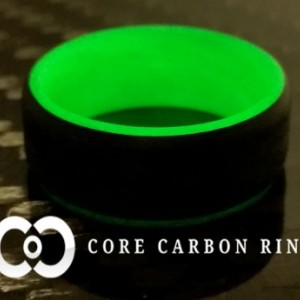 Carbon Fiber Green Glow Ring