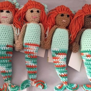 amigurumi plush / Lagoona mermaid dolls / bedtime toy /ethnic